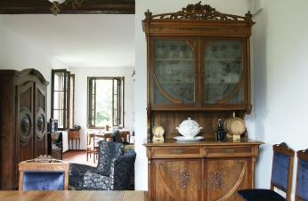 La sala da pranzo e il soggiorno