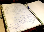 Il guest book di Casa Giacconi Bed and Breakfast a Asso, vicino a Bellagio